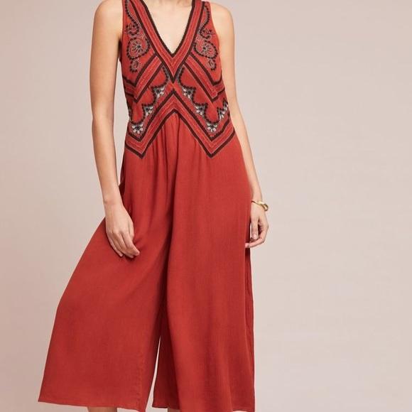 18fe461bda6 Anthropologie Desert Embroidered Jumpsuit
